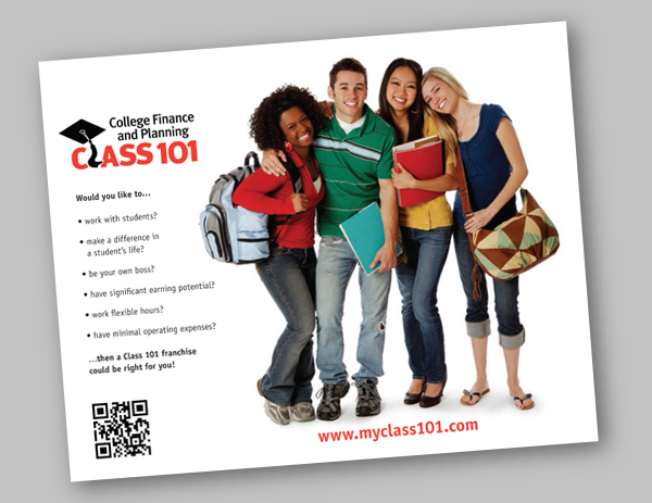 Class 101 franchise brochure design